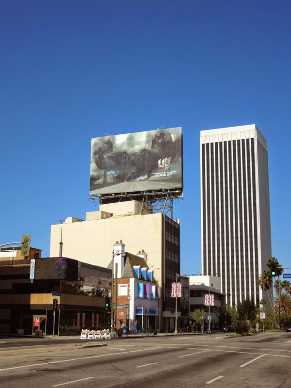 Transformers 4 movie teaser billboard