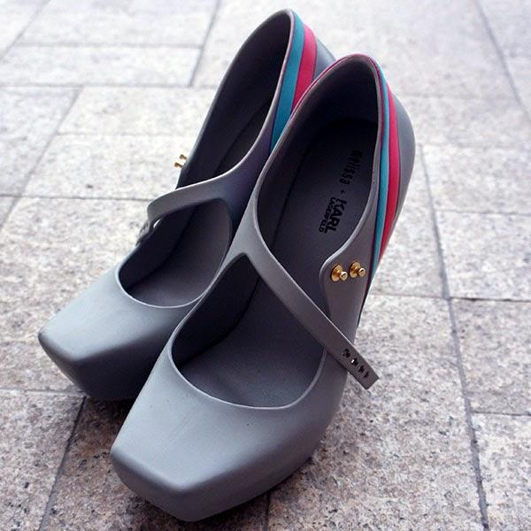 Melissa Ginga x Karl Lagerfeld, Gray, Blue, Pink