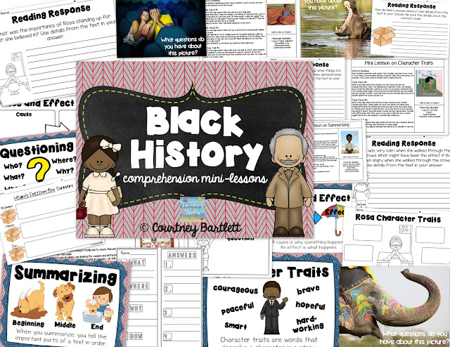https://www.teacherspayteachers.com/Product/Black-History-comprehension-mini-lessons-1722346