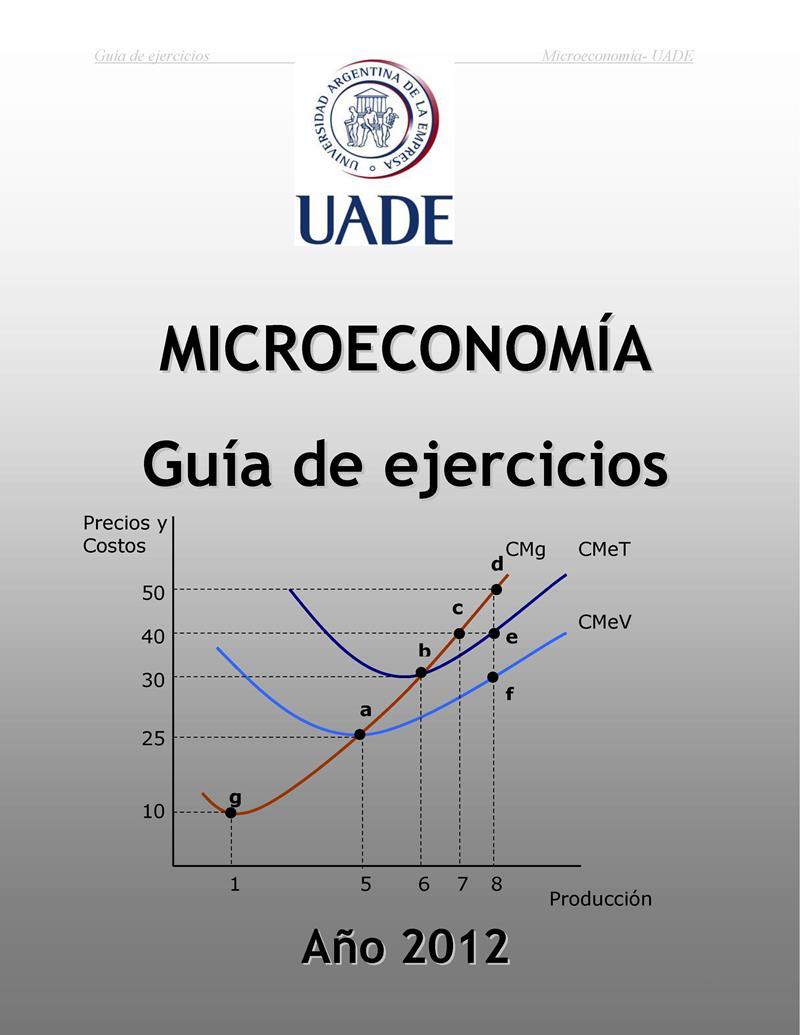 Microeconomía: Guía de ejercicios – UADE [2012]