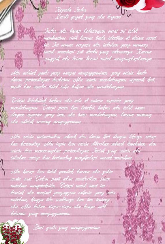 Contoh Surat Cinta dari Pengagum Rahasia