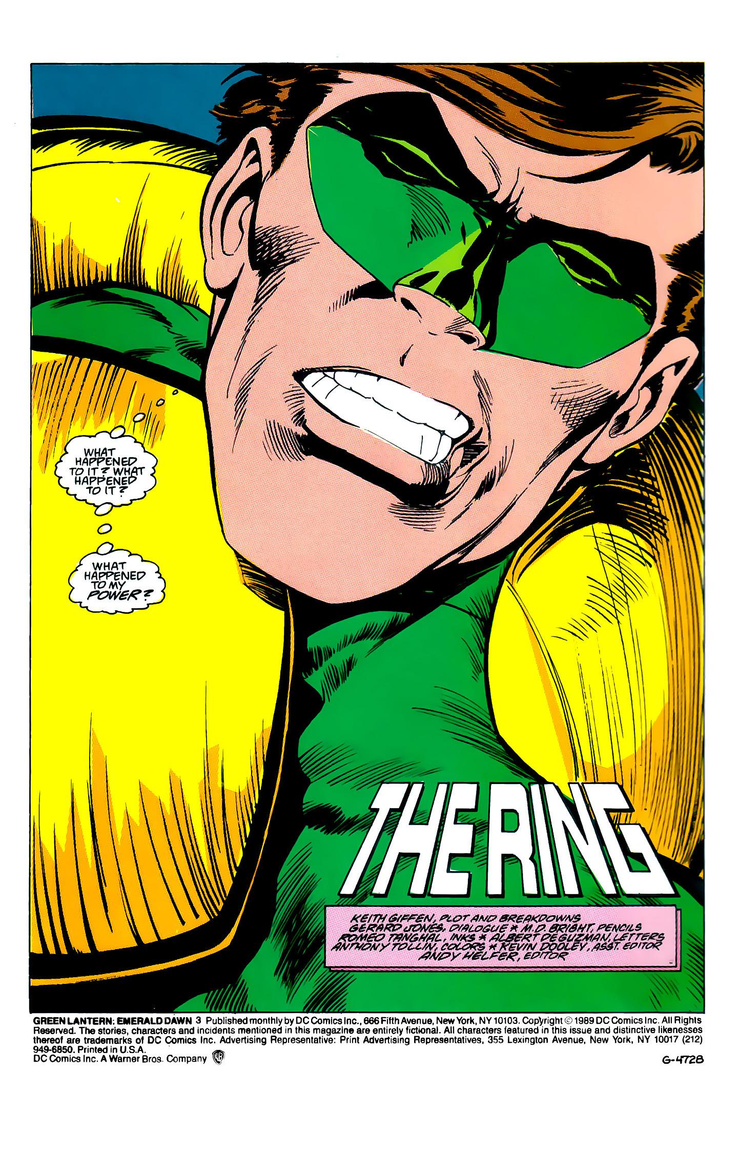 Green Lantern: Emerald Dawn 3 Page 2