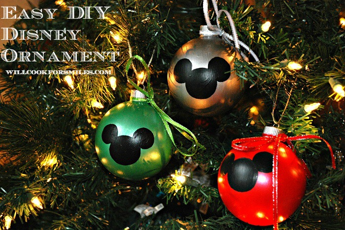diy felt mikey ornmanents confessions of a holiday junkie - Disney Themed Christmas Decorations
