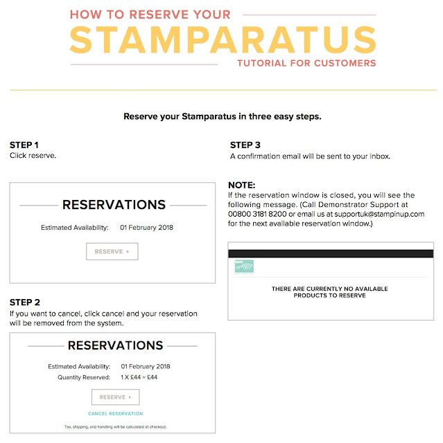 How to reserve your Stamparatus by Stampin' Up! from Mitosu Crafts UK Online Shop