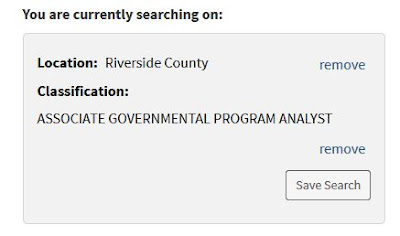 Image of a refined state of california job search