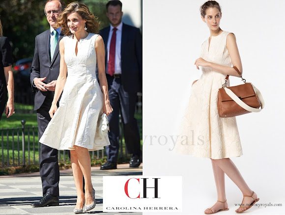 Queen Letizia wore Carolina Herrera Dress - Spring 2016 Ready-to-Wear Collection