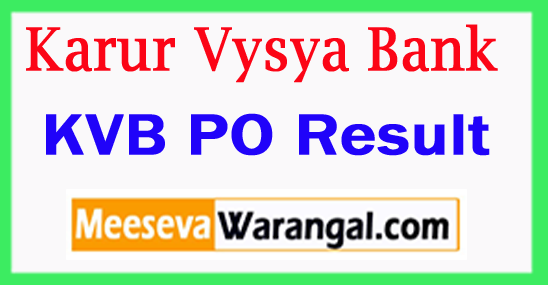 KVB PO Result 2017