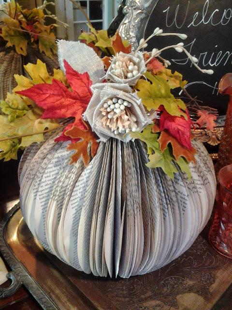 fall Paperback Book Pumpkin