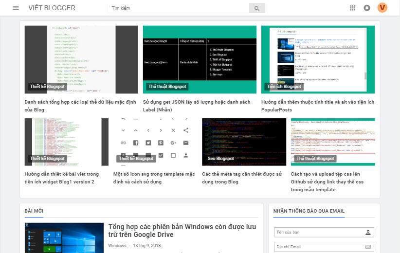 Hướng dẫn thiết kế bố cục bài viết dạng grid cho widget