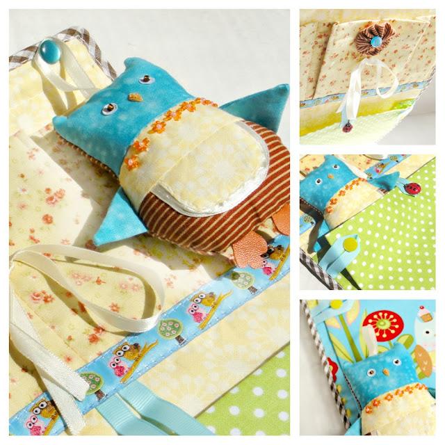 Развивающие игрушки для детского сада - кармашек детский сад со съемной игрушкой Сова - хозяйка для девочек