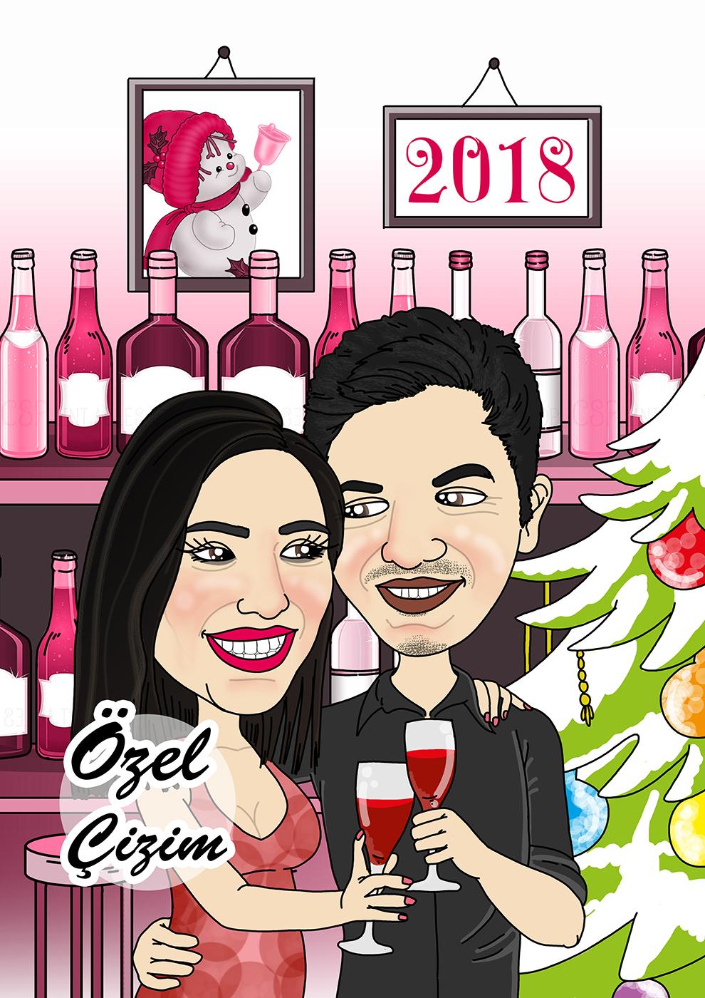 Yılbaşı Hediyesi, Yeni yıl hediyesi,Yeni yıl hediyeleri,Karı koca hediye,Yılbaşı hediyeleri, hediye sepeti, Yılbaşı hediyesi fikirleri,hediye karikatür, hediye portre, hediye fikirleri, karikatür