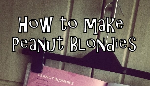 recipe, peanut blondies, hungry student cookbook,