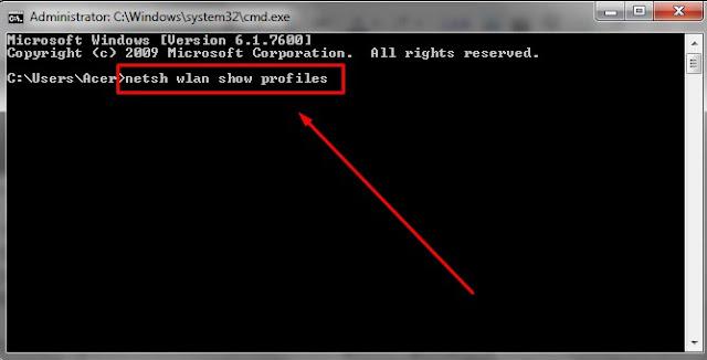 cara mengetahui password wifi dengan CMD