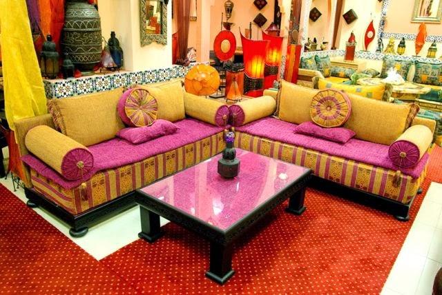 Salons du Maroc et Dcoration orientale Salon marocain confort velours