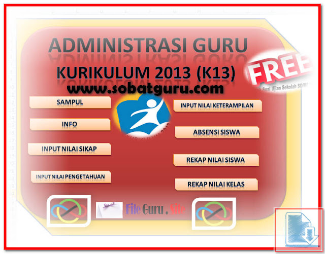 Membuat Administrasi Guru SD Kurikulum 2013 Dengan 1 Aplikasi Format Excel.Xlsx