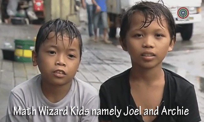 Watch Two More Math Wizard Kids Spotted on Manila namely Joel and Archie