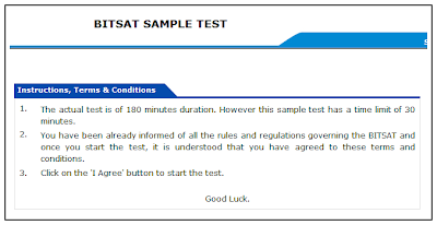 BITSAT 2014 MOCK TEST