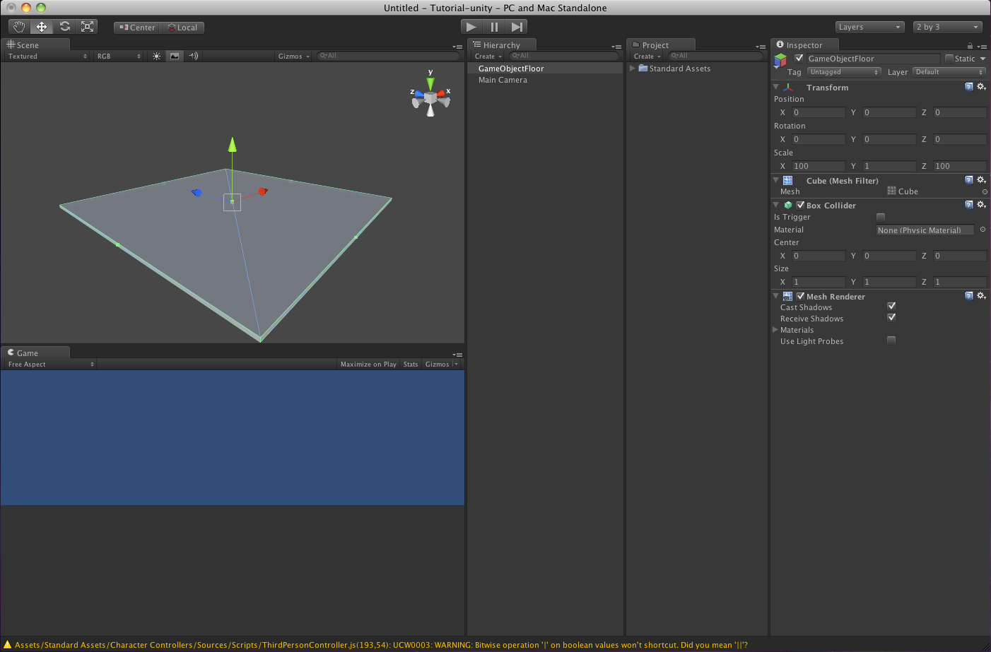 Sacha's First Year: Introduction to Unity