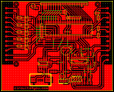 Microcontroller based vehicle tracking and accident detection system PCB Layout