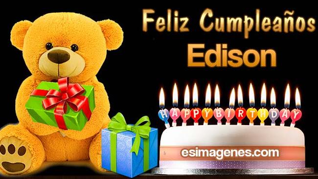 Feliz cumpleaños Edison