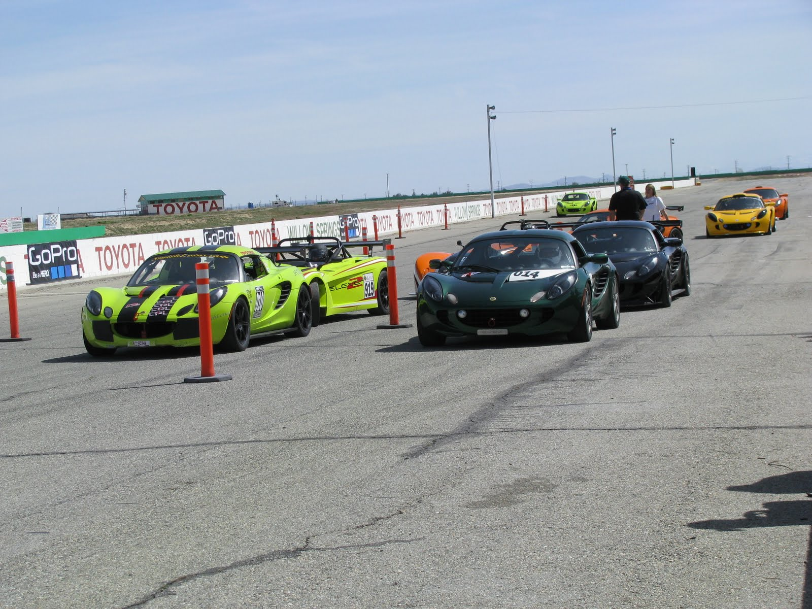 Lotus Cars Staging To Hit The Track During The First Practice Session In  The Lotus Cup USA Round 1 Challenge. Image Credit: Edmund Jenks (2011)