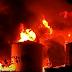 Incêndio de grandes proporções atinge fábrica em Candeias
