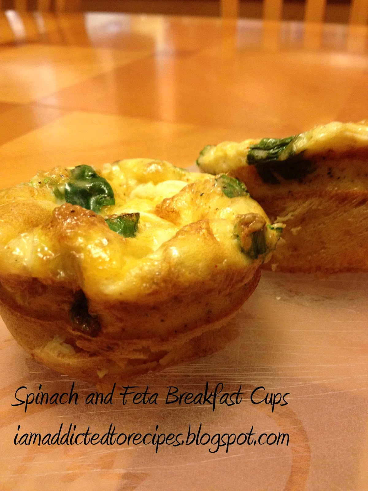 Spinach and Feta Breakfast Muffin | Addicted to Recipes