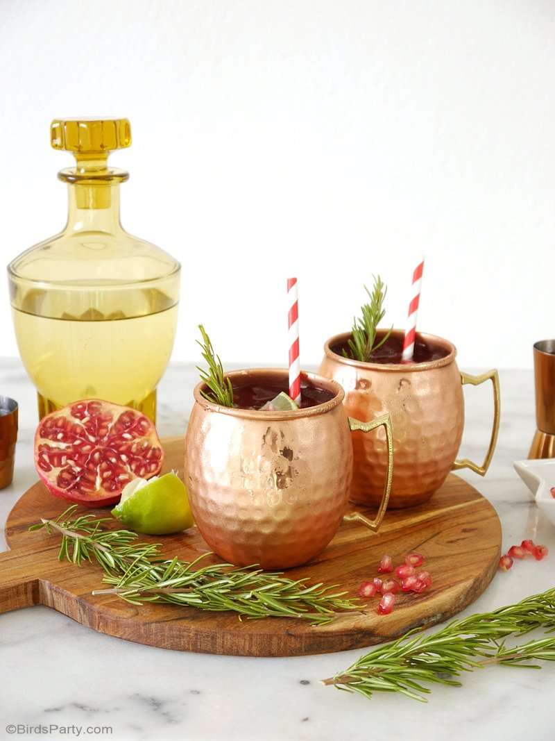 party recipe pomegranate moscow mule cocktail party ideas party printables blog. Black Bedroom Furniture Sets. Home Design Ideas