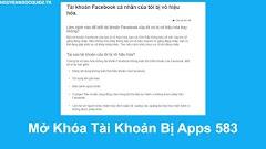 Hướng Dẫn Mở Khóa Tài Khoản Facebook Bị Apps 583