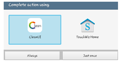 click on clean ui application