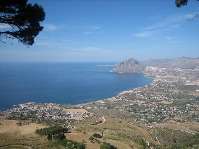 Vista de la costa desde Erice (Siclia)