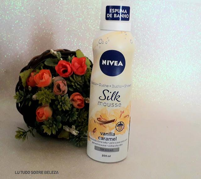 Espuma de banho Nivea Vanilla Caramel blog lu tudo sobre beleza