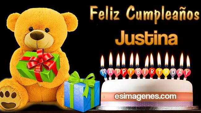 Feliz cumpleaños Justina