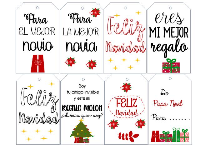 etiquetas de Navidad  para imprimir gratis