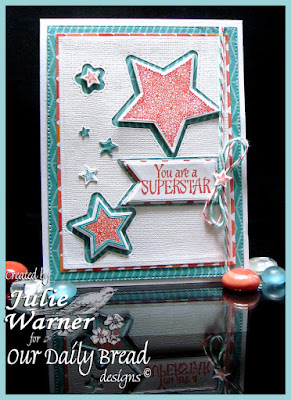 Our Daily Bread Designs Stamp Set: Superstar, Our Daily Bread Designs Custom Dies: Double Stitched Stars, Sparkling Stars, Flourished Star Pattern, Pennants, Rectangles