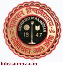 University of Rajasthan Recruitment of Clerk, Lab Assistant and various vacancies for 169 posts Last Date 03 February 2017