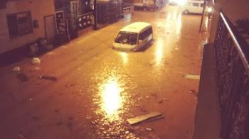 A seis mil ascendió el número de familias afectadas por el desbordamiento de varios ríos en la zona del San Juan,