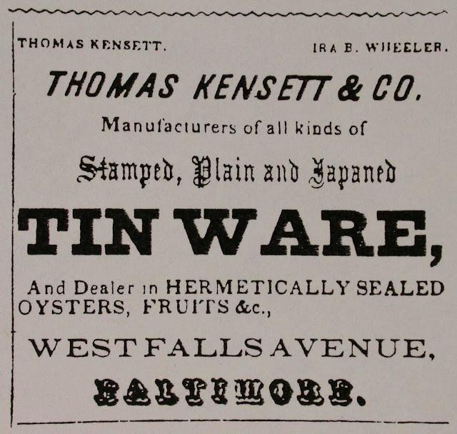 Oyster & Fruit Kensett & Company Ad
