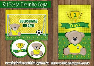kit festa ursinho copa brasil
