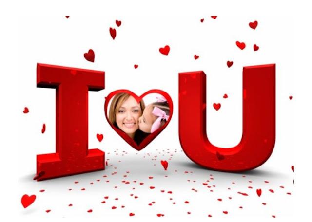 marco de amor para tus fotos gratis