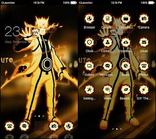 tema android NARUTO KYUBI THEME 2