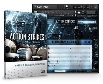 NI Action Strikes Instrumentos de Percusión Cinemáticos VST