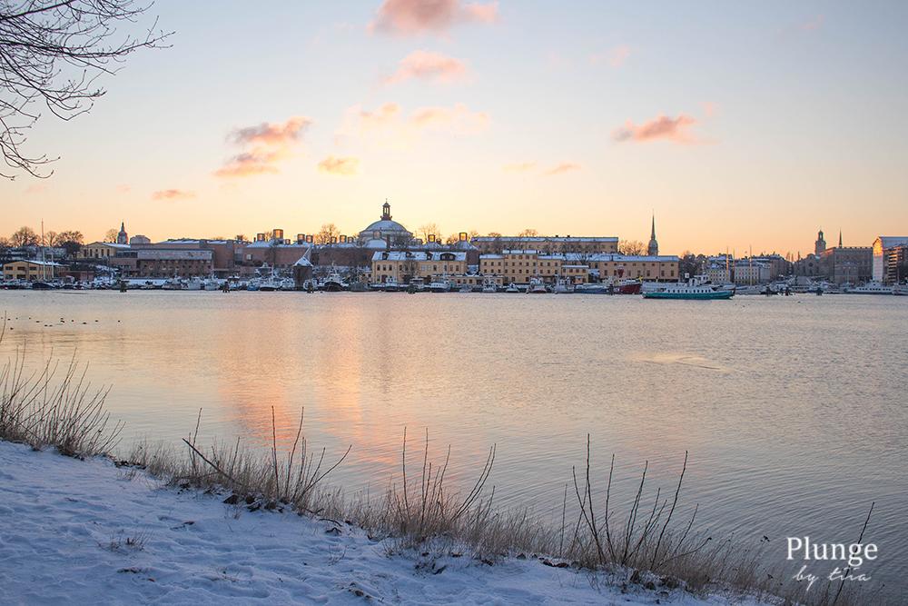 Stockholm in sunset