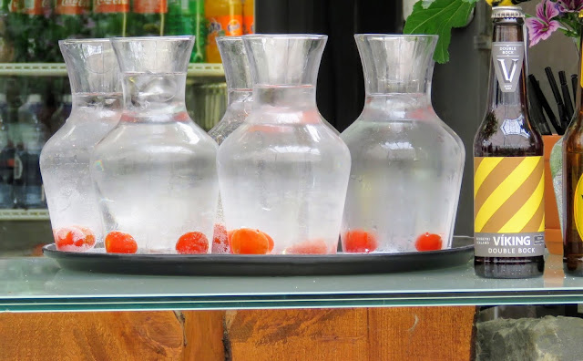 Self-drive around Iceland's Golden Circle: Tomato-infused water at Friðheimar