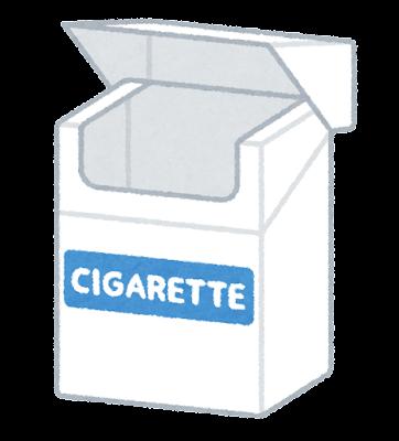 タバコの箱のイラスト(空)