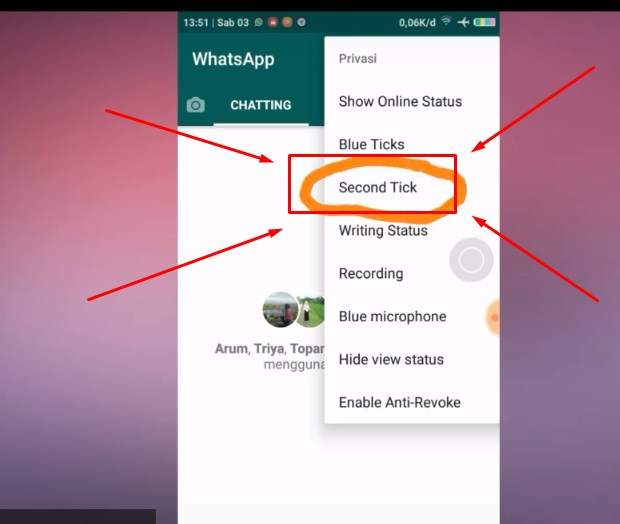 Langkah Ketiga Supaya WA Terlihat Offline Saat Chatting Terbaru 2019 3