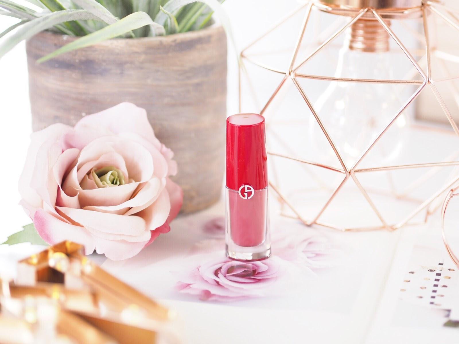 Giorgio Armani Lip Magne, Lip Magnet, pink lipstick, pink liquid lipstick