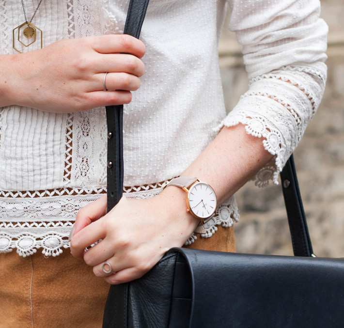 Outfit: Edwardian blouse, cluse watch