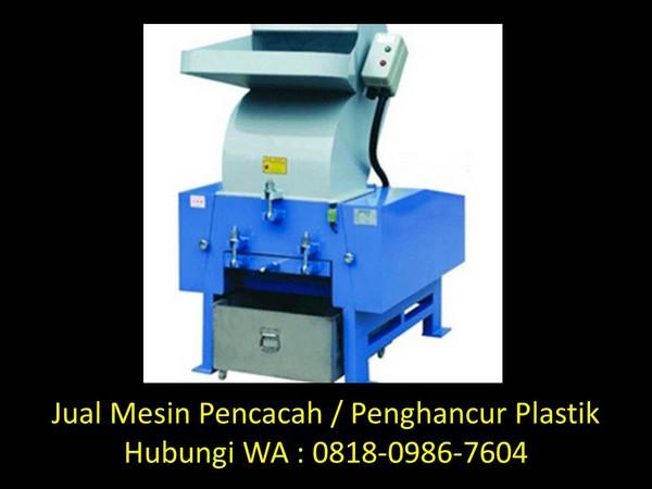 mesin cacah plastik tanpa benang di bandung