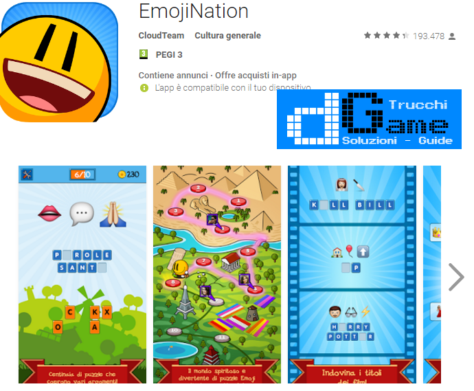 Soluzioni EmojiNation livello 121-122-123-124-125-126-127-128-129-130 | Trucchi e Walkthrough level